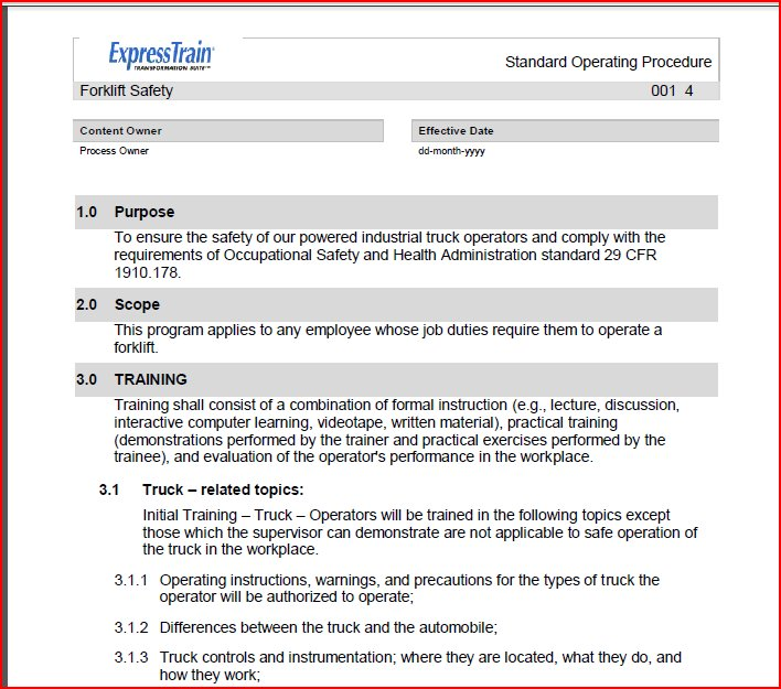 direct interactive instruction lesson plan template - work instruction examples business sample work